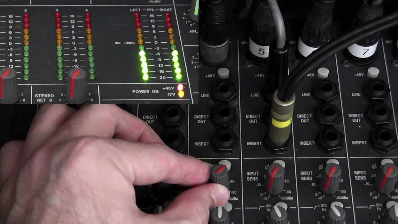 setting the gain on your church mixer